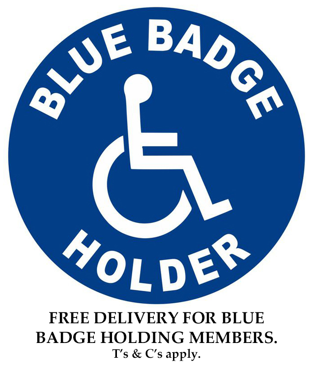 Blue Badge free delivery